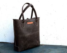 Unisex  Leather Tote Bag  Large Hand stitched by FeralEmpire, $280.00