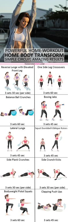 Transform Your Body from Your House! Simple Circuit, Amazing Results - Personal Fitness Trainer Fitness Workout For Women, Fitness Goals, Fitness Tips, Fitness Motivation, Health Fitness, Personal Fitness, Fun Workouts, At Home Workouts, Core Workouts