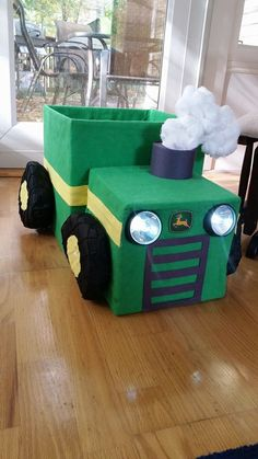 Grill and Headlights idea with emblem Farm Animal Birthday, Tractor Birthday, Farm Birthday, 1st Birthday Parties, Farm Day, Toddler Halloween Costumes, Farm Theme, Lifted Chevy, Chevy Trucks