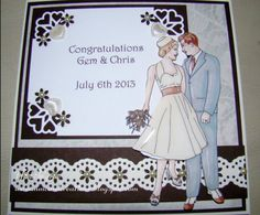 Nikki Byrne made this card using the Wedding Digital Stamp and Paper Pack