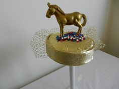 Raymond Hudd pillbox hat with donkey