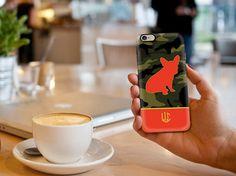Custom Camo Frenchie iPhone / Samsung Galaxy S6 by LauraCLeBlanc #frenchbulldog