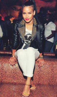 Cassie Ventura.. i want this jacket