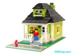 LEGO Lime Green House MOC (MOClug, Flickr)