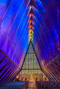 The United States Air Force Academy Cadet Chapel, North Colorado Springs