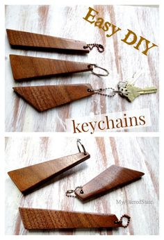 Easy DIY Wood Keychain, My Altered State. Easy DIY tutorial on how to make wooden keychains. What to do with wood scraps. Wood scrap ideas.
