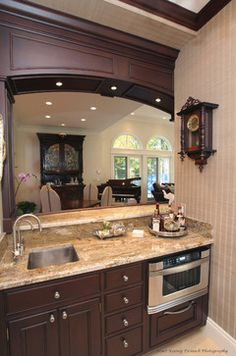 Basement Kitchen Bar Design, Pictures, Remodel, Decor and Ideas - page 27 Wet Bar Basement, Basement Bar Designs, Basement Kitchen, Basement Ideas, Basement Decorating, Basement Makeover, Decorating Ideas, Traditional Kitchen, Traditional House
