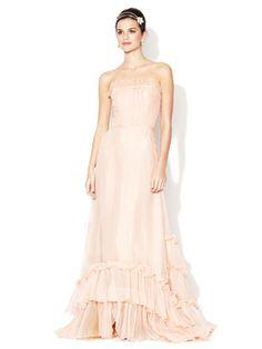 Bhldn sweet tea organza gown $699