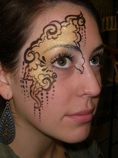 Art Nouveau face paint