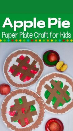 Fall Arts And Crafts, Easy Fall Crafts, Thanksgiving Crafts For Kids, Easy Crafts For Toddlers, Apple Crafts For Preschoolers, Fall Art For Toddlers, Fall Toddler Crafts, Craft Kids, Winter Crafts For Kids