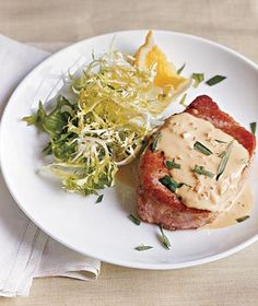 Pork Chops With Mustard Sauce recipe (only 364 calories per serving)