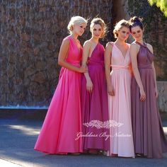 Can't get enough of our sweet pastels & gorgeous vibrant shades of pinks & purples of our Goddess By Nature signature ballgowns! 1 multifunctional dress worn & styled countless ways to suit & flatter all different shapes & sizes available in 44 stunning colours designed & made in Australia!  Stockists worldwide //  www.goddessbynature.com