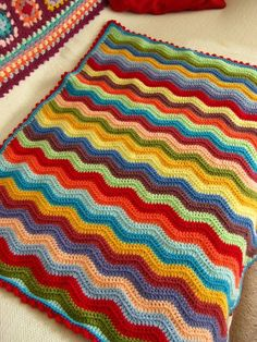 Baby blanket idea - ripple crochet with straight edge