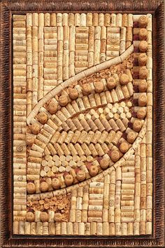 LIFE THEORY - laugh as much as you breathe and love as much as you live!: ART from vine corks!
