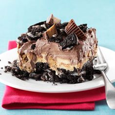Peanut Butter Chocolate Reeses No Bake Dessert