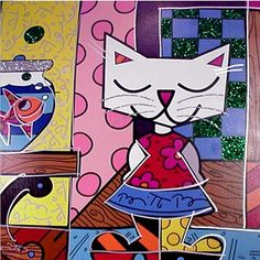 "Romero Britto ""Good Friends"" Limited Edition on Canvas 26"" x 26"""