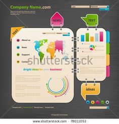 stock vector : Website Design Template