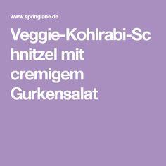 Veggie-Kohlrabi-Schnitzel mit cremigem Gurkensalat