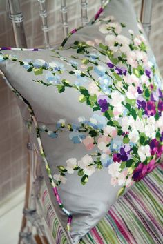 Rosslyn collection by Nina Campbell - available from Rodgers of York #interiors #fabric #cushion