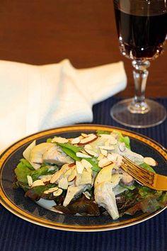 Artichoke Salad with Pea Pods & Mushrooms
