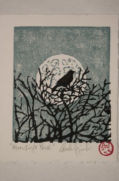 Moonlight Perch Card by AndrewJagniecki on Etsy, $8.00