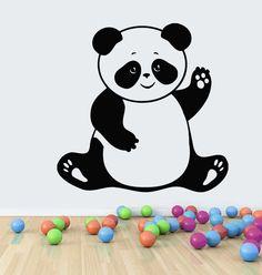 Wall Decals Vinyl Decal Sticker Wall Murals Baby Nursery Decor Panda Bear Kj23