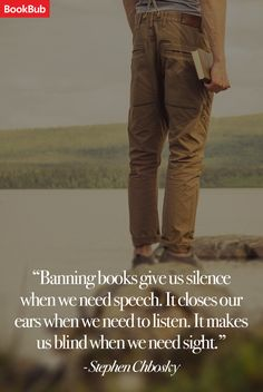 We're celebrating the start of Banned Books Week with this Stephen Chobsky quote on banning books as a form of repression.