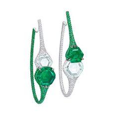 Boghossian emerald diamond earrings.