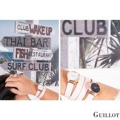 Find your style, be yourself in Guillot #guillotwatches #maisonguillot #timetochange #timetohavefun #timetobeyourself #wristwatch #doublestrap #watchforwomen #nudewatch #whitedial   #blackdial #pinkstrap #goldpinkcase #nude #white #goldpink #swissmade #savoirfaire #luxury #interchangeable #modular #fashionaccessory #parisian #elegance #watchaddict #borninparis Double S, Parisian, Fitbit, Have Fun, Finding Yourself, Fashion Accessories, Nude, Watches, Luxury