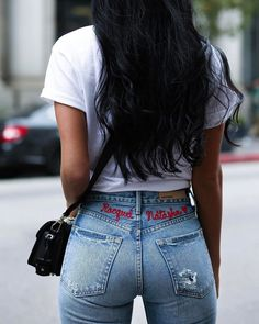 Superenge Jeans, Mode Jeans, Sexy Jeans, Skinny Jeans, Style Hip Hop, Beste Jeans, Embroidered Jeans, Girls Jeans, Sexy Women