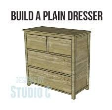 Free Diy Woodworking Plans To Build A Plain Dresser When I First Started The Two Projects Took On Were Dressers For My Kids