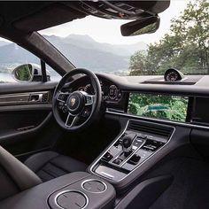 Porsche Panamera Interior | Via: @lux.toys