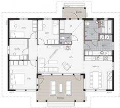 Best House Plans, Small House Plans, Cottage House Plans, Cottage Homes, Bungalow, Architecture Plan, House In The Woods, Log Homes, Future House