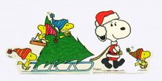 Laminated Snoopy Christmas Wall Decor: Snoopn4pnuts.com