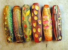 Rustic Tube Beads  Handmade by mara3121 on Etsy, $21.00