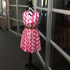 "Selling this ""☀️Cute Pink Chevron Dress☀️"" in my Poshmark closet! My username is: nelnelann. #shopmycloset #poshmark #fashion #shopping #style #forsale #Dresses & Skirts"
