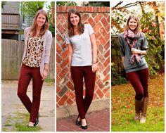 burgundy pants idea