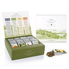 Tea Forte Single Steeps Loose Leaf 28 Different Single Serve Pouches – Black , Green , White Tea, and Herbal Tea Tea Varieties, Tea Reading, Premium Tea, Tea Packaging, Packaging Design, Product Packaging, Gourmet Gifts, Food Gifts, Tea Gifts
