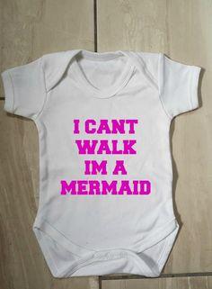 Printed I'm a mermaid baby vest #Baby #babyshower #mermaid