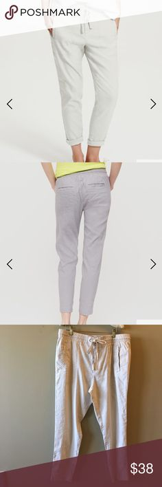 """NWT Lou & Grey soft stretch linen joggers NWT, linen blend super soft pants with tapered legs. 12"""" rise with hook and button closure and drawstring on a fully elastic waistband. 26"""" inseam. Lou & Grey Pants Ankle & Cropped"""