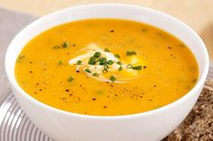 This Pumpkin and chive soup is hearty, warming and extremely tasty.