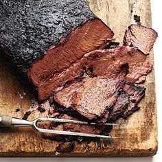 Coffee-Rubbed Texas-Style Brisket | Grilling alone gives meat a smoky flavor, and adding coffee to the concoction only makes this tender, melt-in-your-mouth brisket that much better | Cooking Light