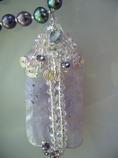 Alpine Crocus 22 Necklace by rlady391 on Etsy, $60.00    Beautiful!!
