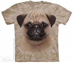 The Mountain-Shirts HundeMops - Mops Baby Face