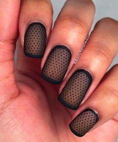Sheer Matte Polka Dot Nail Art - 30 Adorable Polka Dots Nail Designs  <3 <3