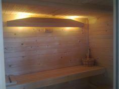 La sauna iluminada