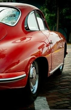 Classic red 356 Porsche... I so want one of these one day. chili