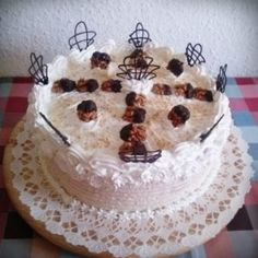 Tejszínes vaníliás diótorta Red Velvet, Tart, Cupcake, Food And Drink, Dios, Pie, Cup Cakes, Tarts, Cupcake Cakes
