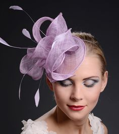 Fascinator PurpleCocktail Hat Ascot and Derby Hat  by MargeIilane, $49.90