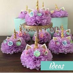 How to create a unicorn centerpiece for your unicorn party – BuzzTMZ Unicorn Themed Birthday Party, Birthday Cake Girls, First Birthday Parties, Birthday Party Decorations, First Birthdays, Birthday Ideas, 5th Birthday, Unicorn Baby Shower Decorations, Garden Birthday